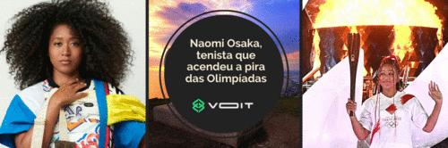 Naomi Osaka, tenista que acendeu a pira das Olimpíadas