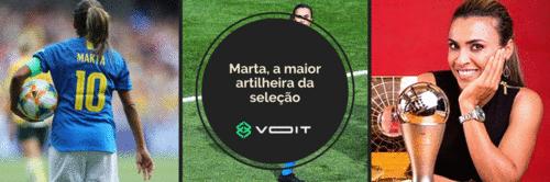 Marta, a maior artilheira da seleção